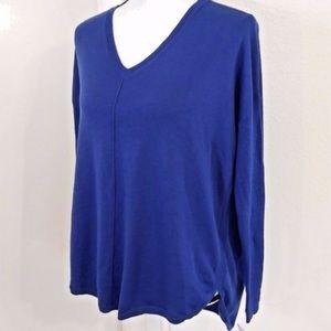 Trouve Everyday cobalt v-neck sweater
